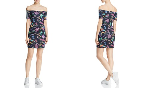 adidas Originals Botanical Off-the-Shoulder Dress - Bloomingdale's_2