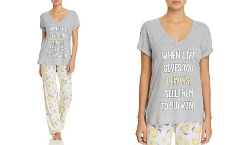 PJ Salvage Lemons Tee & Playful Prints PJ Pants - Bloomingdale's_2