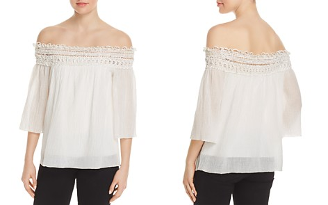 Bailey 44 Off-the-Shoulder Crochet-Trim Top - Bloomingdale's_2