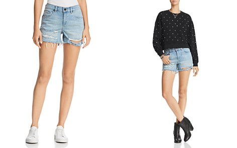 BLANKNYC Distressed Denim Shorts in Memory Lane - Bloomingdale's_2