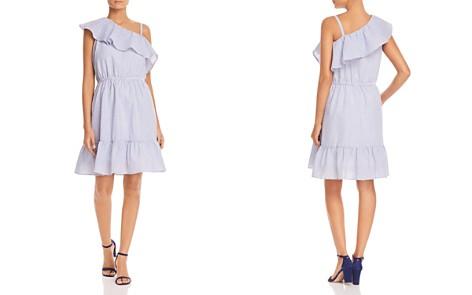Design History Seersucker One-Shoulder Ruffle Dress - Bloomingdale's_2