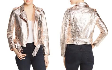 True Religion Metallic Leather Moto Jacket - Bloomingdale's_2