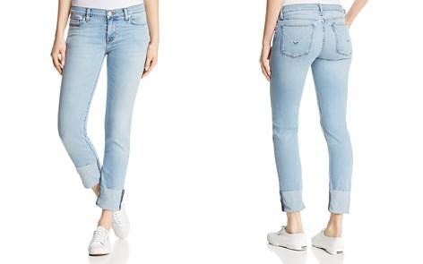Hudson Tally Crop Deep-Cuff Straight Jeans in Gemini - Bloomingdale's_2