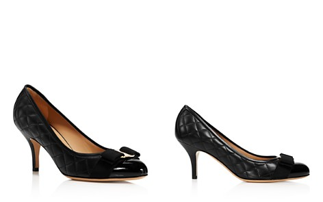 Salvatore Ferragamo Women's Carla Quilted Leather Cap Toe Pumps - Bloomingdale's_2