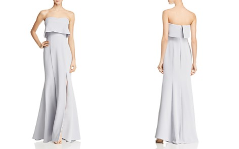 AQUA Crepe Bustier Gown - 100% Exclusive - Bloomingdale's_2