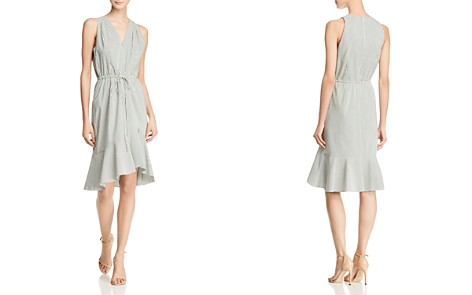Adrianna Papell Striped Flounce Dress - Bloomingdale's_2