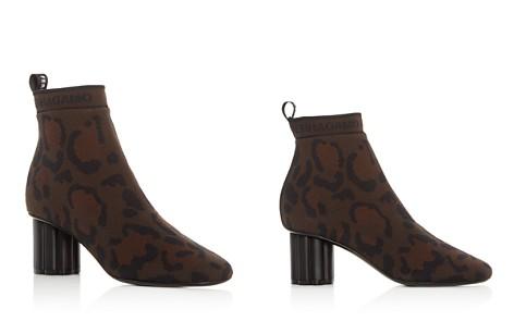 Salvatore Ferragamo Women's Capo 55 Leopard Print Flower Heel Booties - Bloomingdale's_2