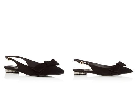 Salvatore Ferragamo Women's Aulla Suede Slingback Flower Heel Flats - Bloomingdale's_2