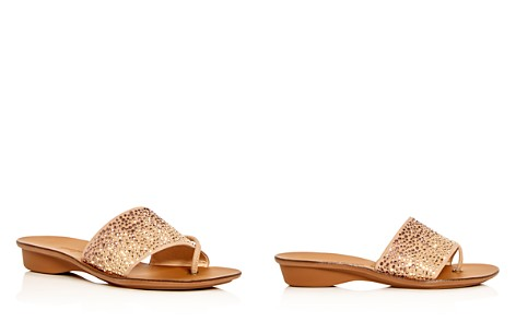 Paul Green Women's Pixie Embellished Nubuck Leather Slide Sandals - Bloomingdale's_2