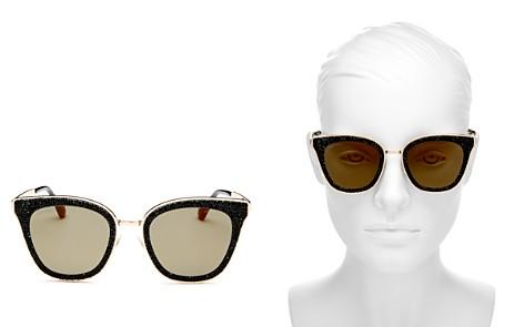 Jimmy Choo Lizzy Glitter Cat Eye Sunglasses, 50mm - Bloomingdale's_2