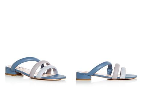 Avec Les Filles Women's Carla Leather Color-Block Slide Sandals - Bloomingdale's_2