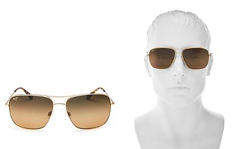 Maui Jim Cook Pines Polarized Brow Bar Aviator Sunglasses, 62mm - Bloomingdale's_2