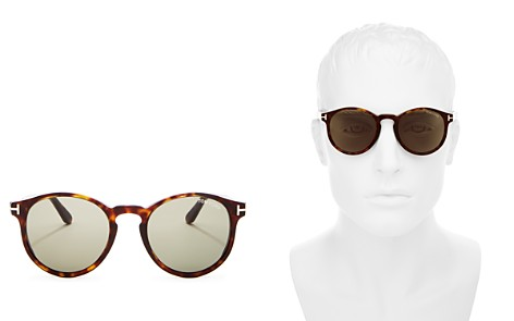 Tom Ford Ian Round Sunglasses, 51mm - Bloomingdale's_2