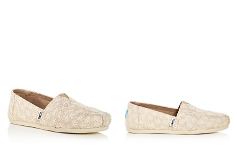 TOMS Women's Daisy Embroidered Metallic Alpargata Flats - Bloomingdale's_2