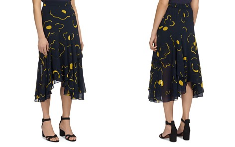 Whistles Billie Magnolia-Print Skirt - Bloomingdale's_2