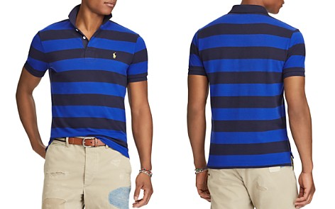 Polo Ralph Lauren Striped Mesh Custom Slim Fit Polo Shirt - 100% Exclusive - Bloomingdale's_2