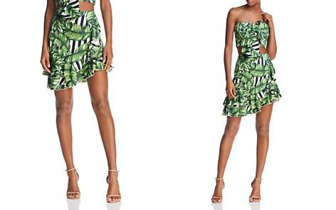 Red Carter Sabrinah Asymmetric Printed Skirt - Bloomingdale's_2