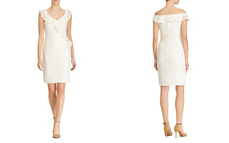 Lauren Ralph Lauren Ruffle-Trimmed Lace Dress - 100% Exclusive - Bloomingdale's_2