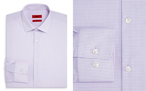 HUGO Micro Grid Regular Fit Dress Shirt - Bloomingdale's_2