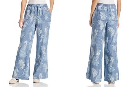 Billy T Palm-Print Wide-Leg Pants - Bloomingdale's_2