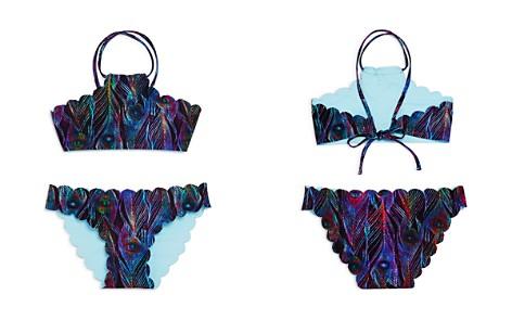 PilyQ Girls' Reversible Seamless Feather-Print 2-Piece Swimsuit - Little Kid, Big Kid - Bloomingdale's_2