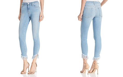 FRAME Le High Skinny Shredded Raw-Edge Jeans in Eling - Bloomingdale's_2