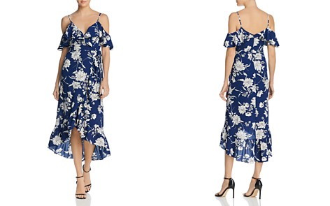 AQUA Floral Cold-Shoulder Ruffle Wrap Dress - 100% Exclusive - Bloomingdale's_2