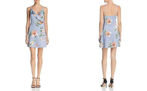 AQUA Floral Ruffle Faux-Wrap Dress - 100% Exclusive - Bloomingdale's_2