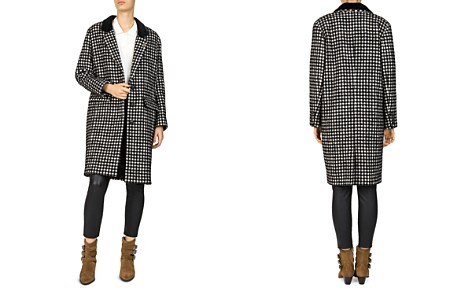 The Kooples Tzar Checked Coat - Bloomingdale's_2