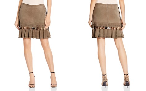 Haute Hippie Crossfire Lace-Up Suede Mini Skirt - Bloomingdale's_2