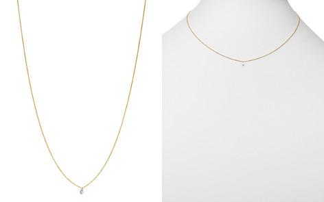 "AeroDiamonds 18K Gold Solo Petite Diamond Fringe Necklace, 16"" - Bloomingdale's_2"