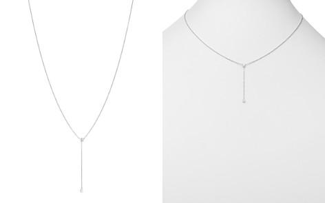 "AeroDiamonds 18K White Gold Duet Diamond Y Necklace, 16"" - Bloomingdale's_2"