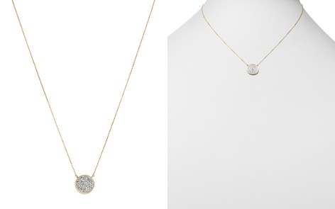 "Adina Reyter 14K Yellow Gold Pavé Diamond Disc Necklace, 15"" - Bloomingdale's_2"