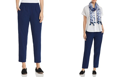 Eileen Fisher Tapered Relaxed Chambray Pants - 100% Exclusive - Bloomingdale's_2