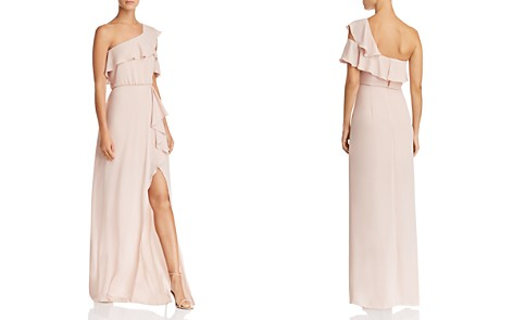 BCBGMAXAZRIA One-Shoulder Ruffle-Trim Gown - 100% Exclusive - Bloomingdale's_2