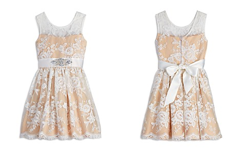 US Angels Girls' Floral Lace Dress - Big Kid - Bloomingdale's_2