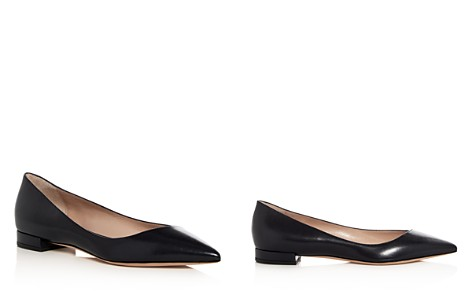 Giorgio Armani Women's Leather Pointed Toe Flats - Bloomingdale's_2
