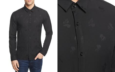 HUGO Ero3 Tonal Pattern Slim Fit Button-Down Shirt - Bloomingdale's_2