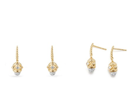 David Yurman Renaissance Drop Earrings with Diamonds in 18K Gold - Bloomingdale's_2