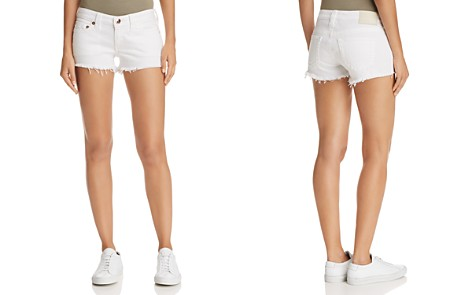 True Religion Joey Cutoff Denim Shorts in Optic White - Bloomingdale's_2