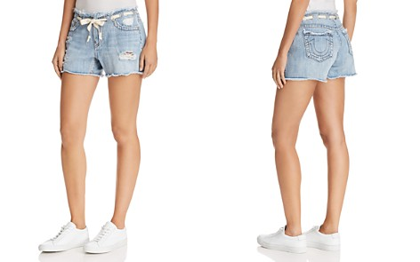 True Religion Fashion Denim Shorts in Baseline Destroy - Bloomingdale's_2