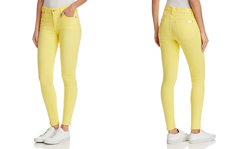 7 For All Mankind The Ankle Skinny Jeans in Vivid Yellow - Bloomingdale's_2