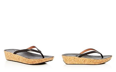 FitFlop Women's Linny Leather Wedge Flip-Flops - Bloomingdale's_2