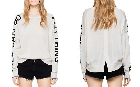 Zadig & Voltaire Rony Bis Merino Wool Slogan Sweater - Bloomingdale's_2