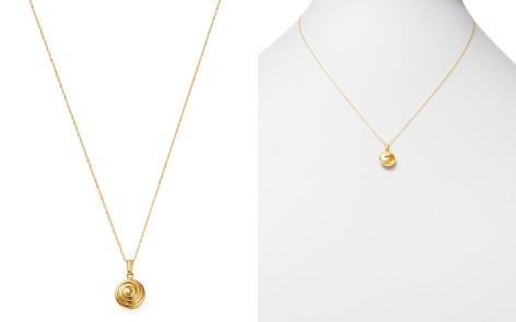 "Bloomingdale's Swirl Pendant Necklace in 14K Yellow Gold, 16"" - 100% Exclusive _2"
