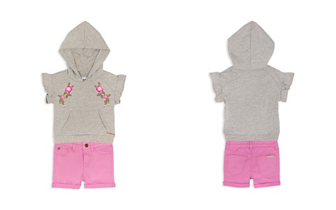 Hudson Girls' Embroidered Hoodie & Cuffed Shorts Set - Baby - Bloomingdale's_2