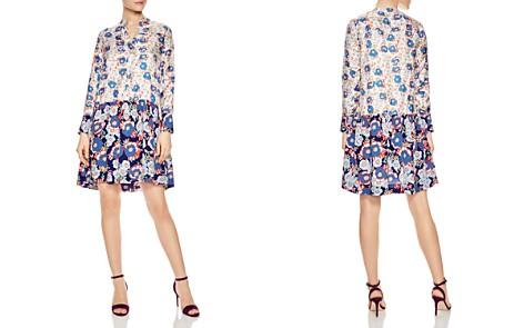 Sandro Kimberly Mixed Floral Print Silk Dress - Bloomingdale's_2