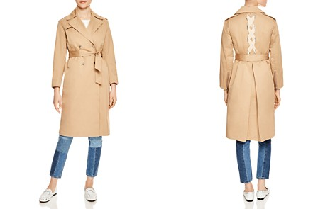 Sandro Gabriela Lace-Up Detail Coat - Bloomingdale's_2