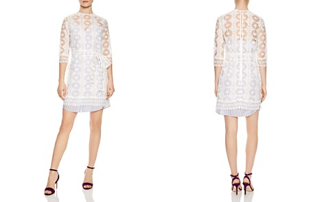 Sandro Isabelle Sheer Lace Mini Dress - Bloomingdale's_2