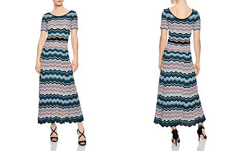 Sandro Rone Geo-Stripe Knit Dress - Bloomingdale's_2